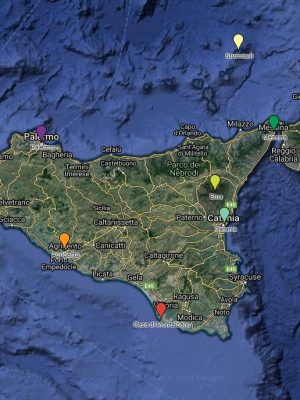 map sicile